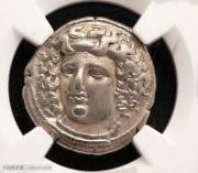 古希腊水中仙女拉瑞萨银币-NGC评级加注风格精致