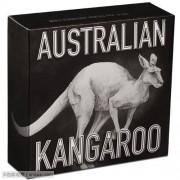 2016年 澳大利亚 仿古袋鼠 2元 大银币 盒证齐全