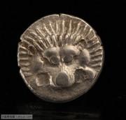 古希腊吕基亚地区三曲腿图和狮子图银币