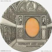 帕劳2008年蒂凡尼艺术银币-矫饰主义风格