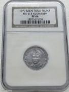 NGC PF64 法属多哥1977年15000法朗 ESSAI 样币 发行量只有25枚