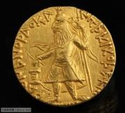 丝绸之路古钱币贵霜帝国早期迦腻色迦一世金币