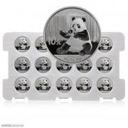 2017年熊猫30克银币  整版15枚