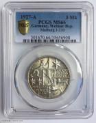 1927年德国魏玛马堡菲利普斯3马克银币