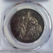 1871年德国巴伐利亚圣母抱婴1泰勒银币
