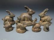 兔形铜质砝码7枚