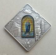 帕劳2016年圣殿之窗比萨教堂银币