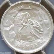【全能菜鸟】德国1920年门登洞熊50芬尼铁币铝币一对