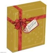 2014年 澳大利亚 圣诞节 50分 彩色精制银币 盒证齐全