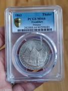 【德藏】1863年德国法兰克福会议城市景观泰勒 PCGS MS64