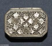 清末民初花卉银盒八边形