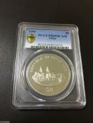 帕劳1999年德国百年殖民地系列青岛精制纪念钯币准样币PCGS金盾PR69分