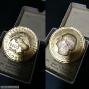 【德藏】德国1923年德紧威斯特法伦10000马克镀金大马币