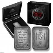 2015年 澳大利亚 大宪章800周年 5元 仿古银币 盒证齐全