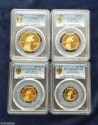 PCGS68/69朝鲜1988年国庆40周年金币4枚