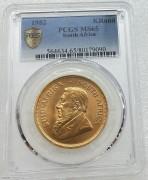 PCGS MS65 南非羚羊1982年1克鲁格大金币 33.93克克917金 含纯金 1 盎司
