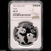 2021年熊猫30克普制银币NGC PF70