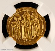 NGC评级MS级拜占庭皇帝希拉克略金币