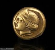 古希腊爱奥尼亚地区爱神阿芙洛狄忒女神头像琥珀金币