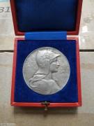 【德藏】瑞士1901年卢塞恩射击节银章 原盒好品