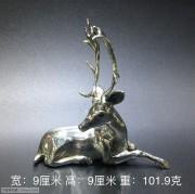 银制 驯鹿 摆件
