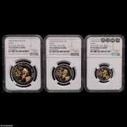 NGCPF69*2/70*1 1996年中国熊猫金币发行15周年普制金币三枚一套