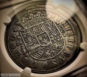 1710年西班牙马德里造币厂8里亚尔银币,NGC AU-58