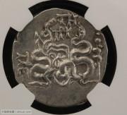 古希腊帕加马城蛇篮银币NGC评级chXF