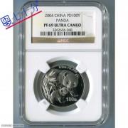 2004年熊猫1/2盎司钯币NGCPF69分
