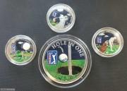 库克2011-2013年PGA高尔夫镶嵌彩色银币大全套