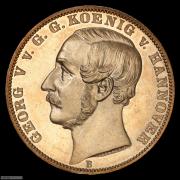 【德藏】德国1865年汉诺威橡树泰勒 PCGS MS63PL