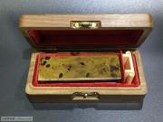 晚清 铜制 文房用品 墨床 配盒子