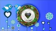 库克2017年默乐石千花艺术玻璃彩色镶嵌银币