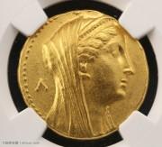 古埃及托勒密王朝王后阿尔西诺伊二世八德拉克马大型金币