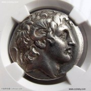 古希腊神化了的亚历山大大帝头像四德拉克马银币