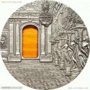 帕劳2009年蒂凡尼艺术银币-巴洛克风格