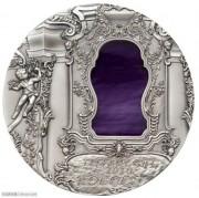 帕劳2010年蒂凡尼艺术银币-洛可可风格