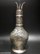 """维多利亚时期 """"银镂空 琉璃 四格"""" 酒瓶"""
