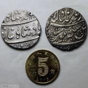 AU 丝路币两枚