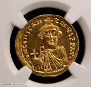 NGC评级MS级拜占庭君士坦斯二世金币