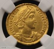 东罗马帝国君士坦提乌斯二世和女神金币
