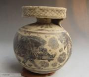 精美古希腊三兽图陶瓶-公元前6世纪狮子野猪和豹子