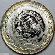 1890年墨西哥鹰洋 福字墨戳