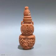 民国 珊瑚MOMO 鼻烟壶