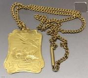 金链子上海原金   金锁片上宝足金  三十而立  完整一套 30.96克