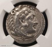 古希腊亚历山大大帝在世版四德银币-NGC评级XF古典币打制币凝绿轩