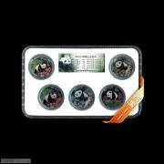 1997-1999年NPGS评级1/2-1盎司熊猫纪念彩色银币套装