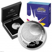 2015年 澳大利亚 篮网球世界杯 弧形精制银币 盒证齐全