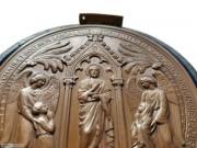 1863年 法国 洗礼纪念大型铜章 原盒 绝品 博物馆级藏品