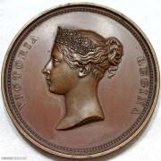 1837年维多利亚女王访问伦敦市政厅铜章